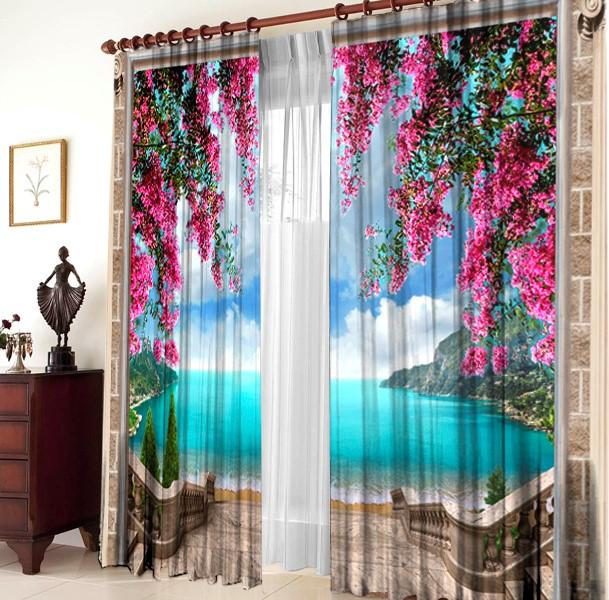 Фото шторы с тюлью готовые интернет магазин